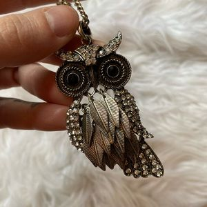 🎃 Long chain owl 🦉 necklace